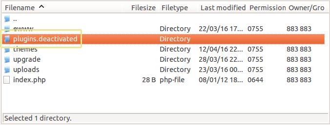 ftp-plugins-deactivated